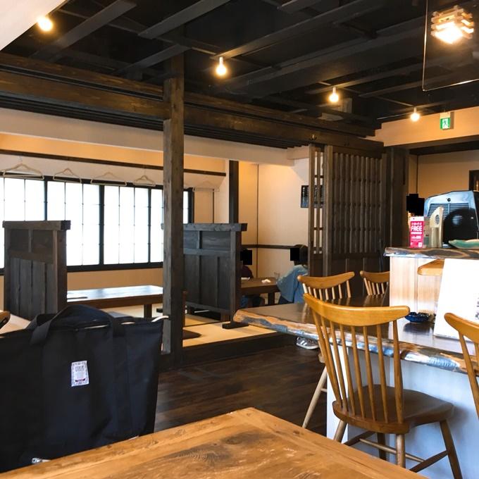 「蕎麦屋 ぎん水 千歳町店」 内観