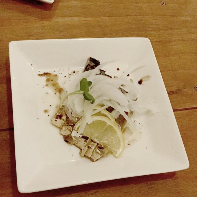 炙バール明 サバの燻製